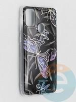 Накладка комбинированная Flowers с силиконовой окантовкой для Samsung Galaxy M21 вид8