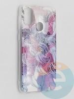 Накладка комбинированная Flowers с силиконовой окантовкой для Samsung Galaxy M21 вид9