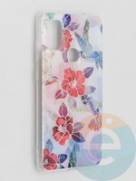 Накладка комбинированная Flowers с силиконовой окантовкой для Samsung Galaxy M51 вид10