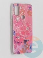 Накладка комбинированная Flowers с силиконовой окантовкой для Samsung Galaxy M51 вид2