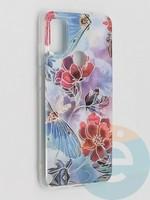 Накладка комбинированная Flowers с силиконовой окантовкой для Samsung Galaxy M51 вид3