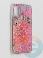 Накладка комбинированная Flowers с силиконовой окантовкой для Samsung Galaxy M51 вид4