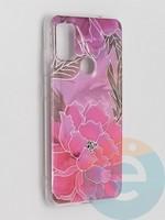 Накладка комбинированная Flowers с силиконовой окантовкой для Samsung Galaxy M51 вид5