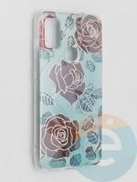 Накладка комбинированная Flowers с силиконовой окантовкой для Samsung Galaxy M51 вид6