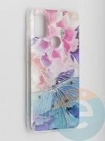 Накладка комбинированная Flowers с силиконовой окантовкой для Samsung Galaxy M51 вид7