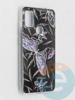 Накладка комбинированная Flowers с силиконовой окантовкой для Samsung Galaxy M51 вид8