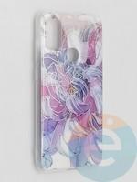 Накладка комбинированная Flowers с силиконовой окантовкой для Samsung Galaxy M51 вид9