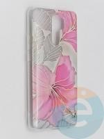 Накладка комбинированная Flowers с силиконовой окантовкой для Xiaomi Redmi 9 вид1