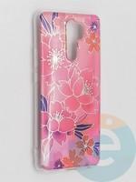 Накладка комбинированная Flowers с силиконовой окантовкой для Xiaomi Redmi 9 вид2