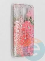 Накладка комбинированная Flowers с силиконовой окантовкой для Xiaomi Redmi 9 вид4