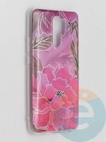 Накладка комбинированная Flowers с силиконовой окантовкой для Xiaomi Redmi 9 вид5