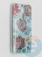 Накладка комбинированная Flowers с силиконовой окантовкой для Xiaomi Redmi 9 вид6