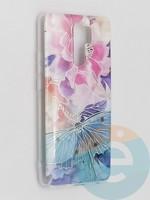 Накладка комбинированная Flowers с силиконовой окантовкой для Xiaomi Redmi 9 вид7