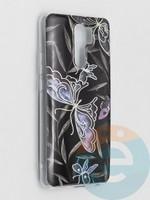 Накладка комбинированная Flowers с силиконовой окантовкой для Xiaomi Redmi 9 вид8