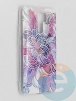 Накладка комбинированная Flowers с силиконовой окантовкой для Xiaomi Redmi 9 вид9