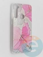 Накладка комбинированная Flowers с силиконовой окантовкой для Xiaomi Redmi Note 8T вид1