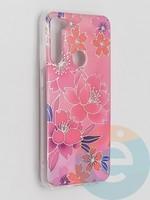 Накладка комбинированная Flowers с силиконовой окантовкой для Xiaomi Redmi Note 8T вид2