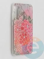 Накладка комбинированная Flowers с силиконовой окантовкой для Xiaomi Redmi Note 8T вид4