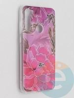 Накладка комбинированная Flowers с силиконовой окантовкой для Xiaomi Redmi Note 8T вид5