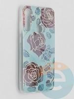 Накладка комбинированная Flowers с силиконовой окантовкой для Xiaomi Redmi Note 8T вид6
