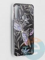 Накладка комбинированная Flowers с силиконовой окантовкой для Xiaomi Redmi Note 8T вид8