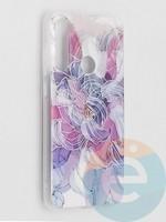 Накладка комбинированная Flowers с силиконовой окантовкой для Xiaomi Redmi Note 8T вид9