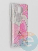 Накладка комбинированная Flowers с силиконовой окантовкой для Xiaomi Redmi Note 9 Pro/Note 9S/Note 9 Pro Max вид1