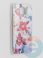 Накладка комбинированная Flowers с силиконовой окантовкой для Xiaomi Redmi Note 9 Pro/Note 9S/Note 9 Pro Max вид10