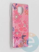 Накладка комбинированная Flowers с силиконовой окантовкой для Xiaomi Redmi Note 9 Pro/Note 9S/Note 9 Pro Max вид2