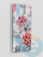 Накладка комбинированная Flowers с силиконовой окантовкой для Xiaomi Redmi Note 9 Pro/Note 9S/Note 9 Pro Max вид3