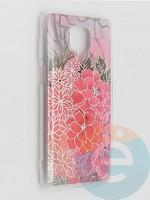 Накладка комбинированная Flowers с силиконовой окантовкой для Xiaomi Redmi Note 9 Pro/Note 9S/Note 9 Pro Max вид4