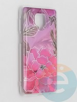 Накладка комбинированная Flowers с силиконовой окантовкой для Xiaomi Redmi Note 9 Pro/Note 9S/Note 9 Pro Max вид5