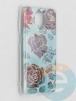 Накладка комбинированная Flowers с силиконовой окантовкой для Xiaomi Redmi Note 9 Pro/Note 9S/Note 9 Pro Max вид6
