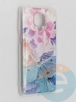 Накладка комбинированная Flowers с силиконовой окантовкой для Xiaomi Redmi Note 9 Pro/Note 9S/Note 9 Pro Max вид7