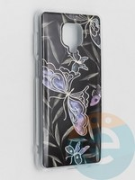 Накладка комбинированная Flowers с силиконовой окантовкой для Xiaomi Redmi Note 9 Pro/Note 9S/Note 9 Pro Max вид8
