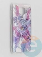 Накладка комбинированная Flowers с силиконовой окантовкой для Xiaomi Redmi Note 9 Pro/Note 9S/Note 9 Pro Max вид9
