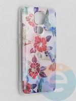 Накладка комбинированная Flowers с силиконовой окантовкой для Xiaomi Redmi Note 9 вид10