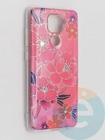Накладка комбинированная Flowers с силиконовой окантовкой для Xiaomi Redmi Note 9 вид2