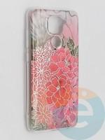 Накладка комбинированная Flowers с силиконовой окантовкой для Xiaomi Redmi Note 9 вид4