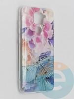 Накладка комбинированная Flowers с силиконовой окантовкой для Xiaomi Redmi Note 9 вид7
