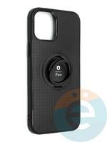 Накладка силиконовая iFace на Apple IPhone 12 Pro Max с металлической пластиной с кольцом
