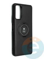 Накладка силиконовая iFace на Huawei Honor 10X Lite с металлической пластиной с кольцом