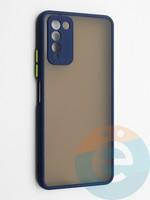 Накладка пластиковая с силиконовой окантовкой с защищенной камерой для Huawei Honor 10X Lite синяя