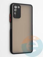 Накладка пластиковая с силиконовой окантовкой с защищенной камерой для Huawei Honor 10X Lite черная