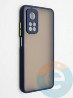 Накладка пластиковая с силиконовой окантовкой с защищенной камерой для Xiaomi Mi 10T синяя
