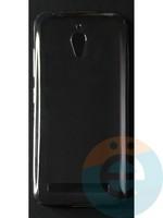 Накладка силиконовая ультратонкая на Asus Zenfone GO (ZC500TG) тёмно-прозрачная
