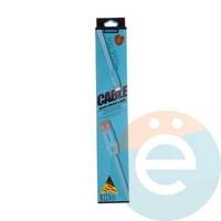 USB кабель Remax на Lightning плоский силиконовый голубой