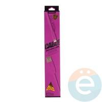 USB кабель Remax на Lightning плоский силиконовый розовый