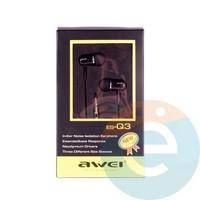 Наушники AWEI ES-Q3 чёрные
