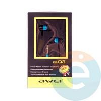 Наушники AWEI ES-Q3 синие